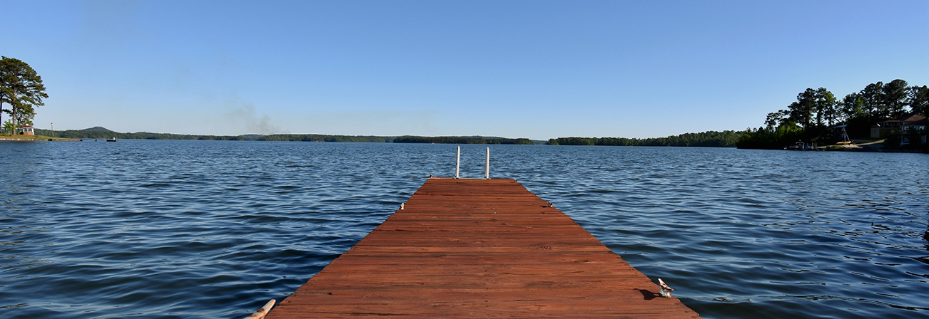 lake martin pier water view